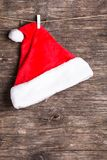 Santa hat on rope Royalty Free Stock Photos