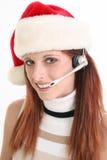 Santa hat rypsowa klienta usług Obrazy Stock