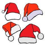 Santa hat set Stock Images