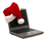 Santa Hat Sitting on a Laptop (2 of 3) stock photos