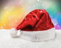 Santa hat snow Royalty Free Stock Images