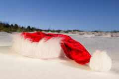 Santa hat in the snow Royalty Free Stock Photo