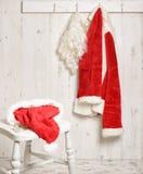 Santa Hat & specifikationer Fotografering för Bildbyråer
