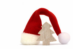 Santa hat with tree Royalty Free Stock Image