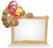 Santa hat turkey sign Royalty Free Stock Photo