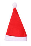 Santa Hat on White. Shot of a Santa Hat on White Royalty Free Stock Photography