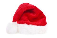 Santa hat in white background royalty free stock photos