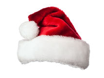 Santa hat on white Royalty Free Stock Images