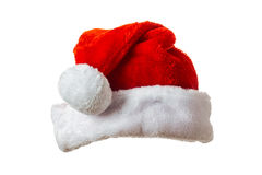 Santa hat on white Royalty Free Stock Photography