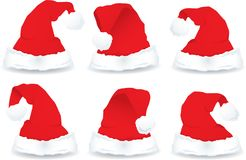 Santa Hats Stock Photos