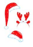 Santa Hats Lizenzfreie Stockbilder