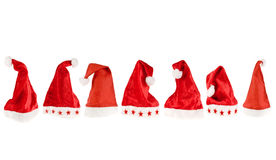 Santa hats Stock Photo