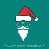 Santa hats and beards and eyeglasses Stock Photo