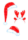 Santa hats Royalty Free Stock Images