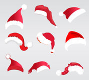 Santa hats Royalty Free Stock Image