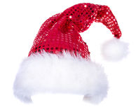 Santa hats isolated on white Royalty Free Stock Images