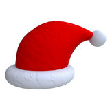 Santa hats in plasticine or clay style Royalty Free Stock Photography