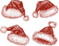 Santa  hats Royalty Free Stock Photos