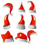 Santa hats vector Stock Photos