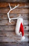 Santa hatt Fotografering för Bildbyråer
