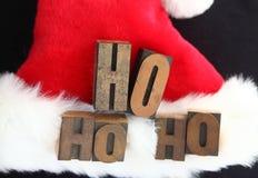 Santa hatt ho ho ho Royaltyfria Foton