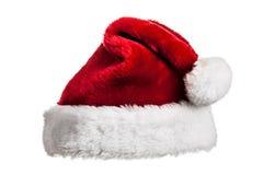 Santa hatt på vit Fotografering för Bildbyråer