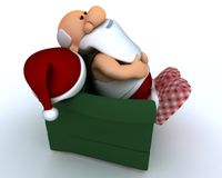 Santa having a day off Stock Photo