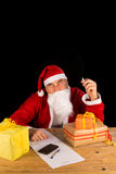 Santa having a fag Stock Image