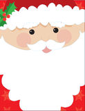 Santa Head Frame Royalty Free Stock Images