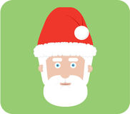 Christmas Santa. Santas head on the green background - illustration cartoon christmas Stock Image