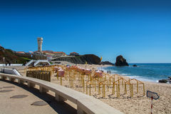 Santa Helena beach in Santa Cruz, Portugal. Royalty Free Stock Photos