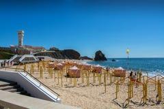 Santa Helena beach in Santa Cruz, Portugal. Stock Photo