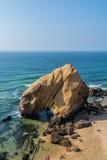 Santa Helena strand Portugal Arkivfoton