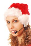 Santa Hello Girl Royalty Free Stock Photos