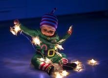 Santa helper baby Stock Photography