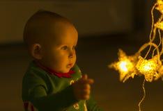 Santa helper baby Stock Image