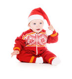 Santa helper baby Royalty Free Stock Photos