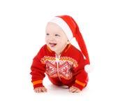Santa helper baby Stock Images