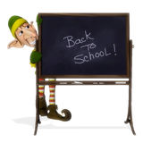 Santa helper back to school Stock Photography