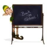 Santa helper back to school. Santa helper is telling you to go back to school Stock Photography