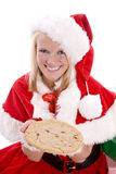 Santa helper with big cookie Stock Photography