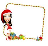 Santa Helper Border Royalty Free Stock Images