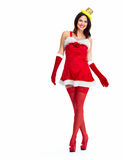Santa helper Christmas girl. Stock Image