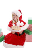 Santa helper with cookie presents Royalty Free Stock Photos