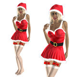Santa helper Stock Photo