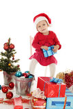 Santa helper with gift Stock Photography