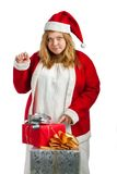 Santa helper with gifts Royalty Free Stock Photos