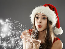 Santa helper girl Stock Image