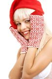 Santa helper girl Stock Images