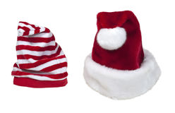 Santa and Helper Hats Stock Images